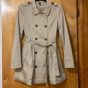 H&M Belted Tie Waist Trench Coat